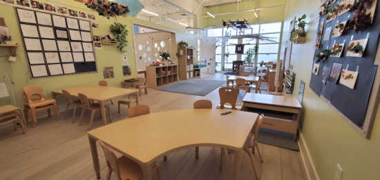 beautiful view inside of the child classroom